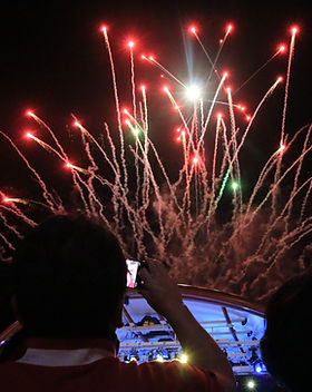 Fireworks at an event in Korea