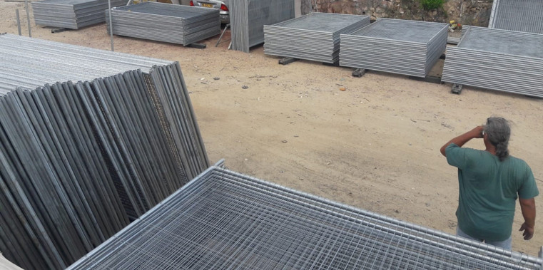 גדר זמנית מלאי