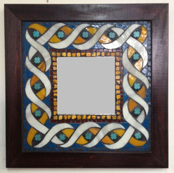Mirror with Glass and Gems