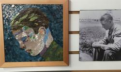 contemplating portrait mosaic