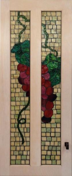 split door grapes mosaic