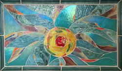 sun mosaic backsplash