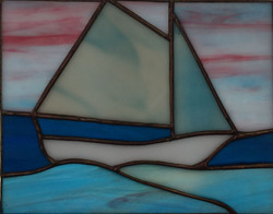 beginner copper foil student sailboat