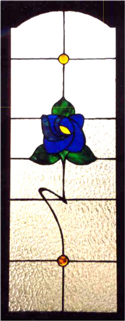 Blue Arts & Crafts Rose