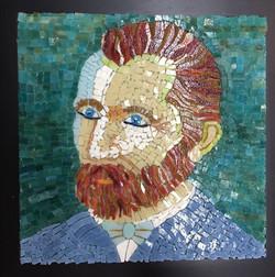vincent van gogh mosaic portrait student