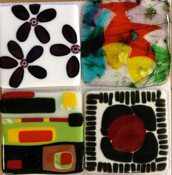 fused glass student projects