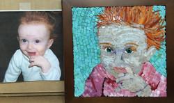 lila mosaic portrait