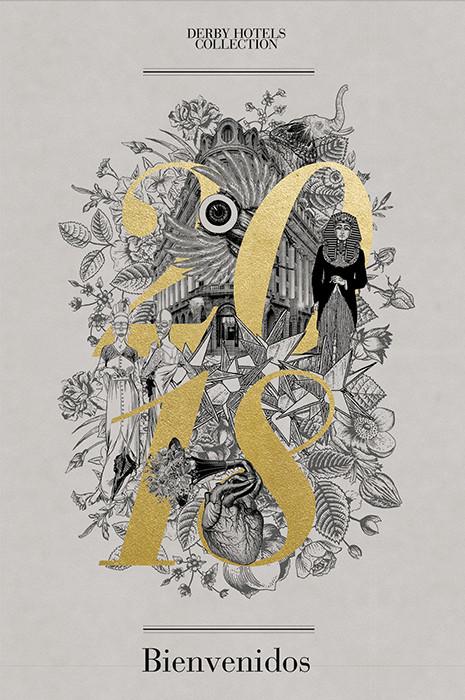 Ilustración de cubierta. Buenos deseos a través de imagenes surrealistas y referencias al arte egipcio y africano, de los que la familia Clos son grandes coleccionistas.