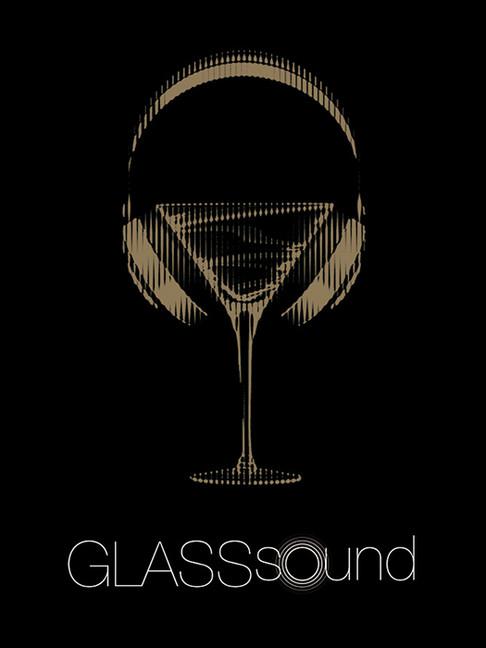 Diseño logo para GLASSsound, que constó de fiestas mensuales con conocidos DJ's en el marco del GLASSbar.