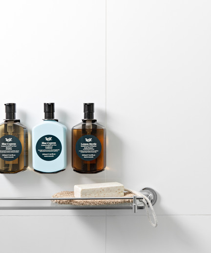 Leif toiletries in each bathroom