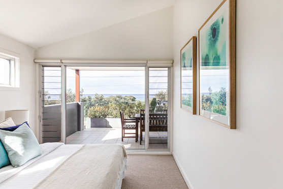 Master bedroom with Werri views