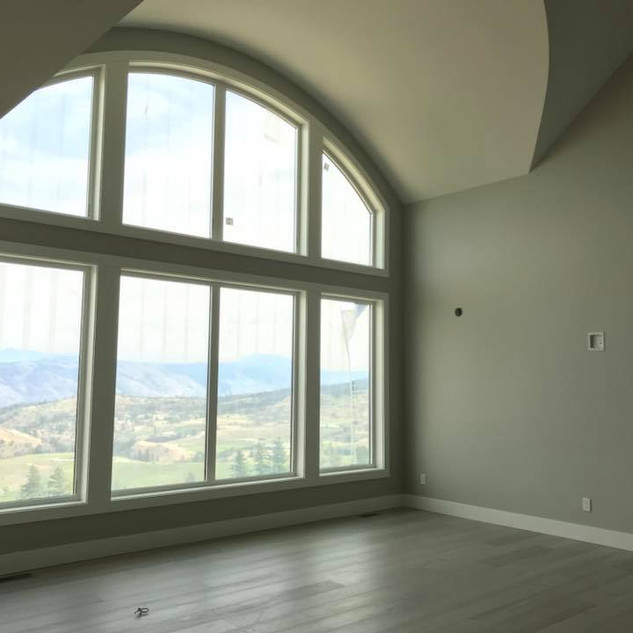 A beautiful arched ceiling in a custom built new home in Kamloops.