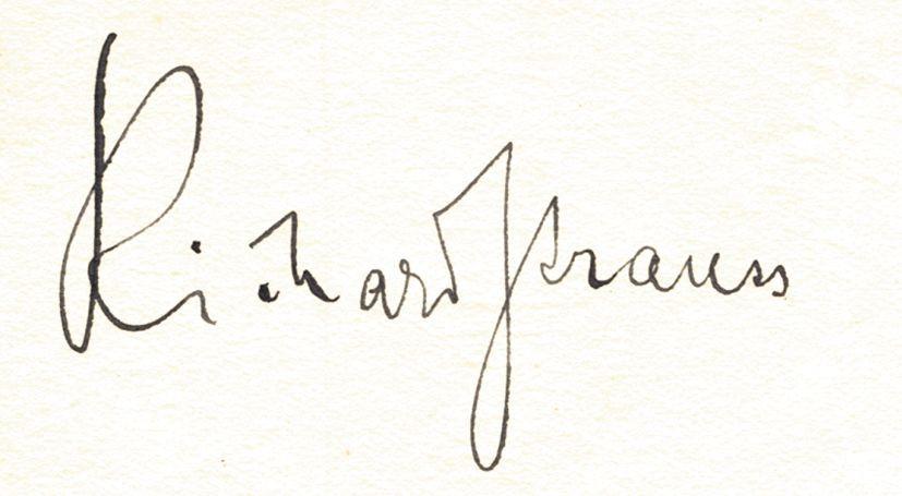 Richard Strauss Singnature