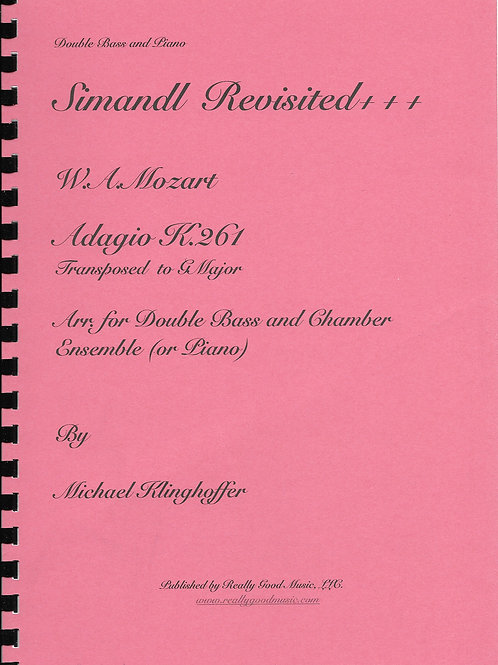 Mozart Adagio K.261 for Double Bass and Piano