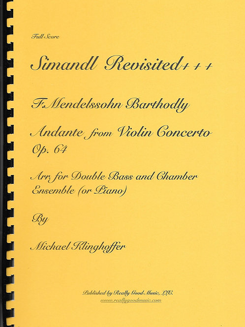 Mendelssohn Andante from Violin concerto for Double Bass and Chamber Ensemble