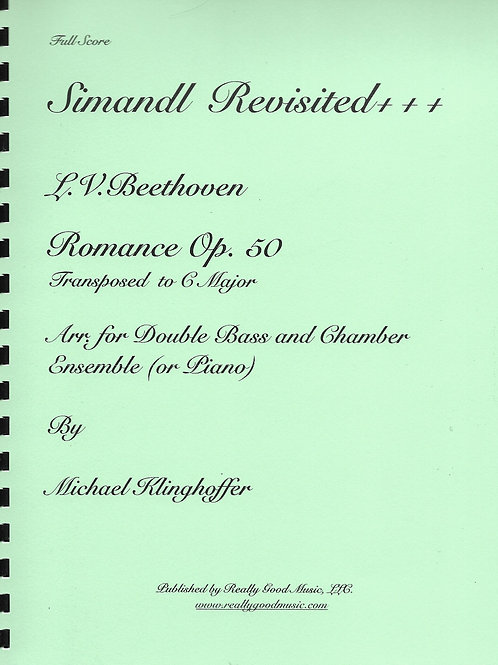 Beethoven Romance No. 2 for Double Bass and Chamber Ensemble, Op. 50