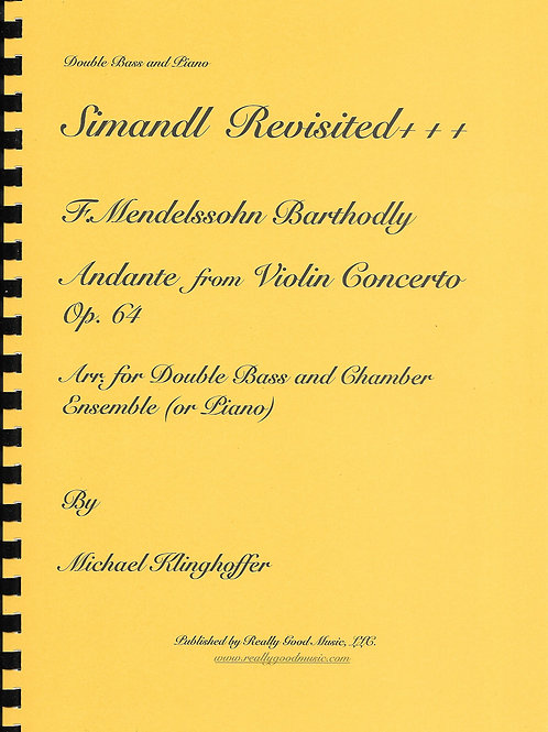 Mendelssohn - Andante from Violin Concerto for Double Bass and Piano
