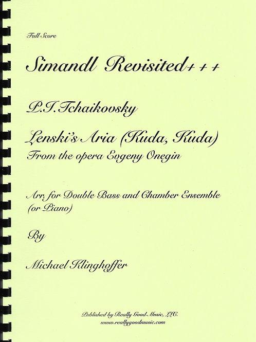Tchaikovsky Lenski's Aria for Double Bass and Chamber Ensemble ( Full Score, Set