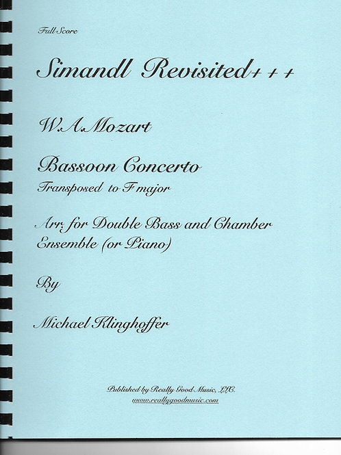 Mozart Bassoon Concerto (in F) for Double Bass and Chamber Ensemble