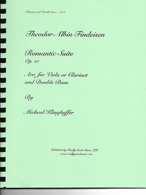 Findenden Romantic Suite Op. 10, Arranged for Clarinet and Double Bass