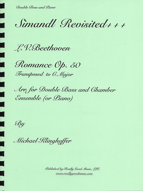Beethoven Romance No. 2 for Double Bass And Piano. Op. 50
