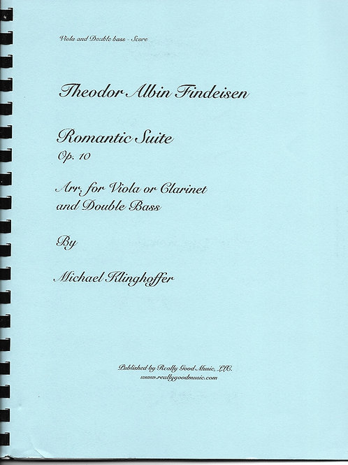 Findeisen Romantic Suite Op. 10 arranged for Viola and Double Bass