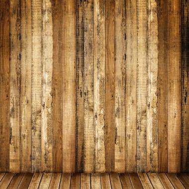 10x10ft Brown Retro Wood