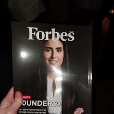Maya on the cover of Forbes 30Under30