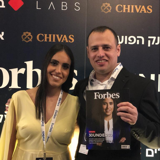 Maya and Eli in Forbes 30under30