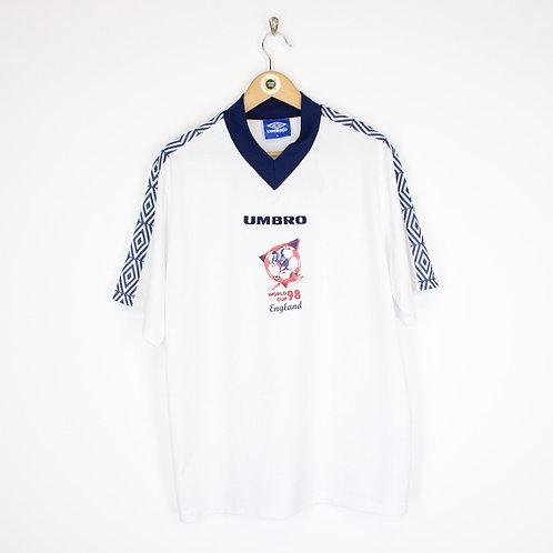 Vintage Umbro England World Cup 1998 Shirt XL
