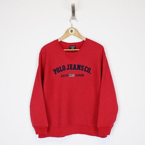 Vintage Polo Jeans Sweatshirt Large