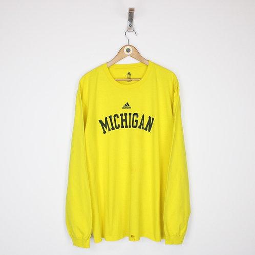 Vintage Adidas Michigan T-Shirt XXL