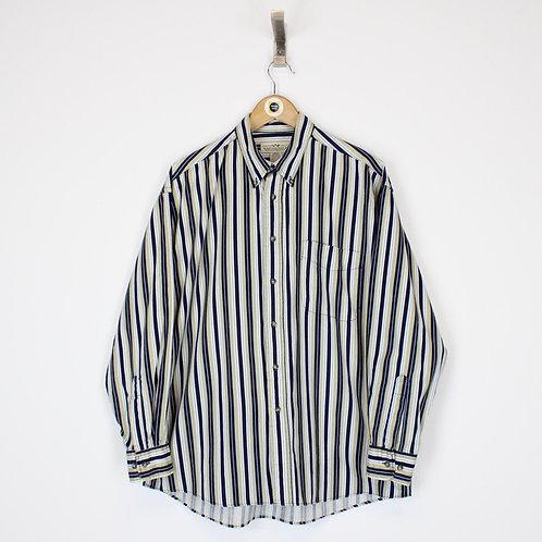 Vintage Striped Shirt Large