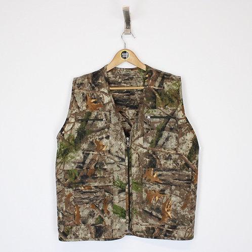 Vintage Camo Vest Jacket Large