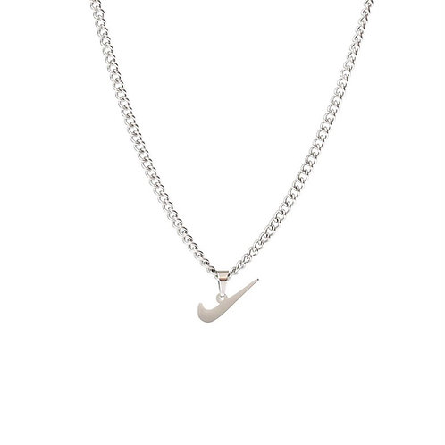 Nike Swoosh Necklace Silver