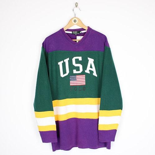Vintage 90's Polo Ralph Lauren Sweatshirt XL