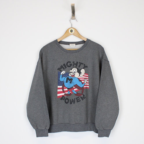 Vintage Mighty Mouse Sweatshirt Small