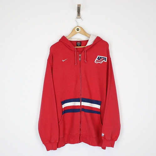 Vintage Nike USA Hoodie Large