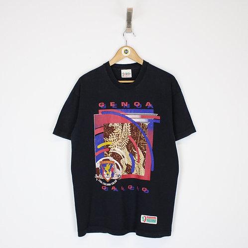 Vintage 1993 Genoa Calcio FC T-Shirt Large