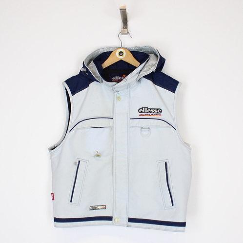 Vintage Ellesse Gilet Jacket Small