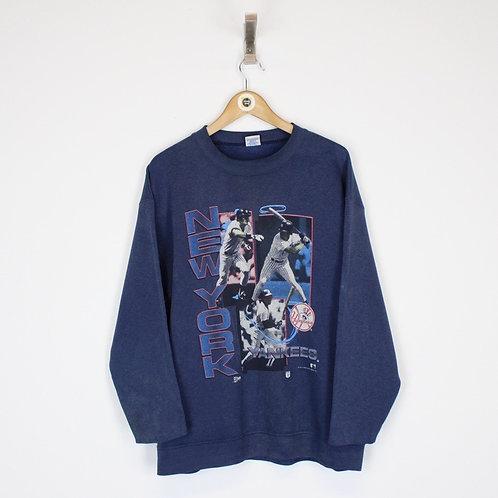 Vintage 1990 New York Yankees Sweatshirt Large