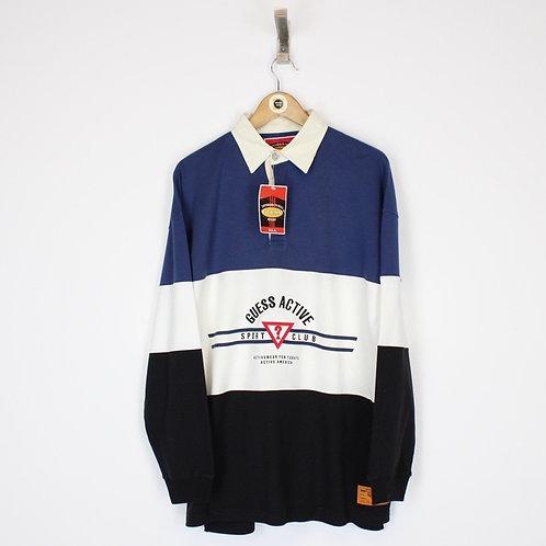 Vintage Guess Rugby Shirt Medium