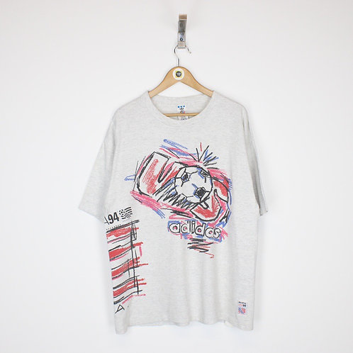 Vintage Adidas 1994 USA World Cup T-Shirt Large