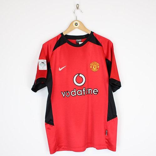 Vintage Nike Man Utd 2002/04 Football Shirt Medium