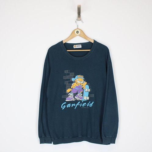 Vintage Garfield Sweatshirt Large