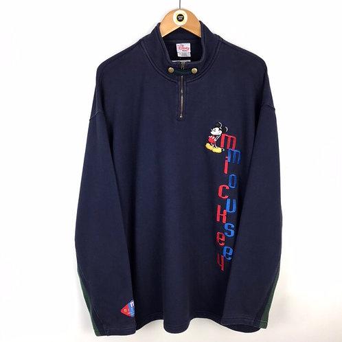Vintage Disney 1/4 Zip Sweatshirt XL