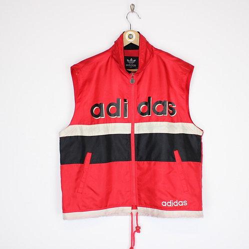 Vintage 90's Adidas Spellout Vest Medium