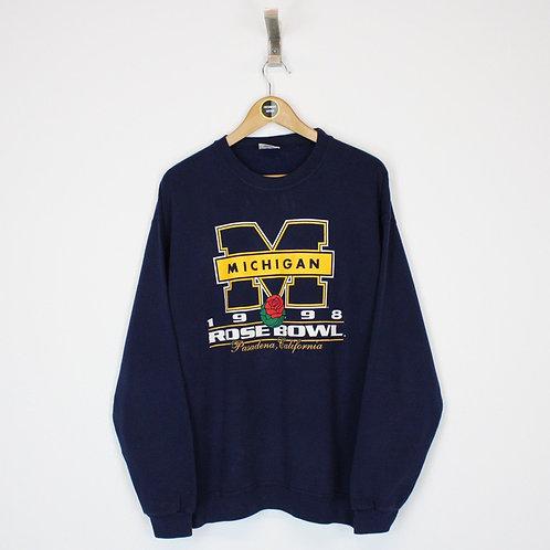 Vintage 1998 Michigan Rose Bowl Sweatshirt Large