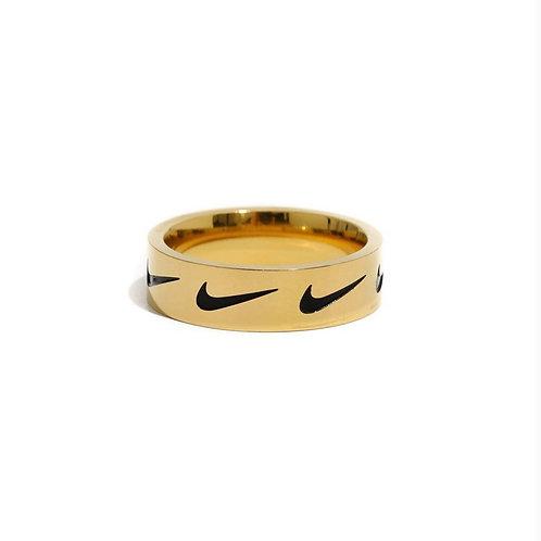 Nike Repeat Swoosh Ring Gold