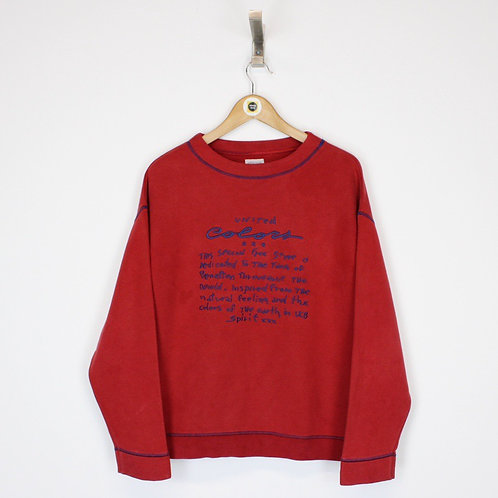 Vintage Benetton Sweatshirt Medium